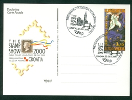 Croatia 2000 FDC Great Britain London Promotion Commemorative Cancel Of C. Post (#16) Abroad Letter Cover Stationery - Croatia