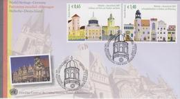 United Nations FDC Mi 597-598 World Heritage Sites - Germany - Palaces And Parks Of Potsdam & Berlin - Luther Memorials - FDC