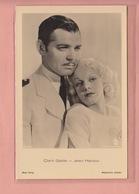 OLD POSTCARD FILM - MOVIE STAR - CLARK GABLE - JEAN HARLOW - Autres