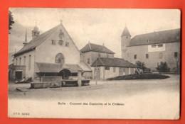 TRB-11 Bulle Couvent Des Capucins Et Le Château. Fontaine. Cachet 1907 CPN 4012 - FR Fribourg