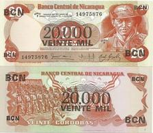 Nicaragua 20000 Cordobas 1987. P-147 - Nicaragua