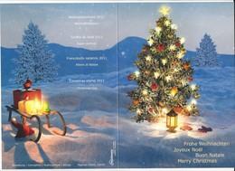20790 - Joyeux Noël  Et Bonne Année 2012 Voeux De La Poste Bloc De 4 Noël Zürich 24.11.2011 - Storia Postale