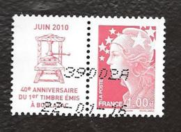 TIMBRES  FRANCE.... ...  PAIRE BEAUGEARD 40° ANNIV....N°4460..  2010....TBE... - Francia