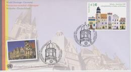 United Nations Vienna FDC Mi 598 World Heritage Sites - Germany - Luther Memorials In Eisleben And Wittenberg 2009 - FDC