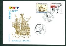 Croatia 1992 Italy Genova Promotion Commemorative Cancel Of C. Post (#1) On Exhibition Abroad Letter Stationery America - Croatia