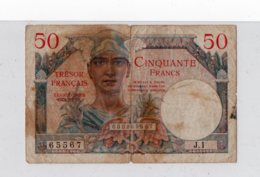Cinquante Francs - Trésor Français - Territoires Occupés - N° 65567 - Tesoro