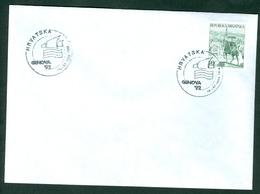 Croatia 1992 Italy Genova Promotion Commemorative Cancel Of C. Post (#1) On Exhibition Abroad Letter Stationery Tomislav - Croatia