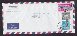 Haiti: Airmail Cover To Germany, 3 Stamps, War, Airplane, Philately, Overprint Haipex, Rare Real Use! (minor Creases) - Haïti