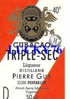 Curacao Triple Sec Liqueur Distillerie Pierre Guy Pontarlier - Etiquettes