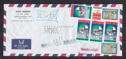 Haiti: Airmail Cover To Germany, 7 Stamps, Health, Electricity, Overprint Inauguration, Rare Real Use! (minor Creases) - Haïti