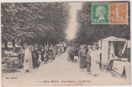 Calvados :OUISTREHAM - RIVA  BELLA :  Vues  , Rue  Pasteur , Le  Marché - Riva Bella