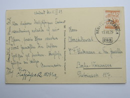 1929 , REUTTE - Innsbruck , Bahnpost, Klarer Stempel Auf Karte - 1918-1945 1. Republik