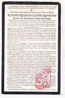 DP Eulalie Rosalie J. Hanssens ° Ieper 1827 † Meulebeke 1909 X Jean Bapt. Goethals - Images Religieuses