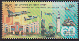 INDIA , 2018, MNH, DEFENCE RESEARCH, FIGHTERS, PLANES, TANKS, MISSILES, SATELLITES,   1v - Militaria