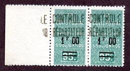 Algérie Colis Postaux N°35a Tenant à Normal N** LUXE  Cote 32,50 Euros !!!RARE - Algérie (1924-1962)
