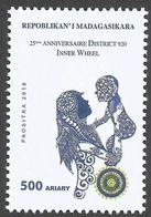 Madagascar Madagaskar 2018 25ème Anniversaire District 920 Inner Wheel Rotary Club Mint - Madagaskar (1960-...)