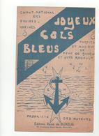 Partition Joyeux Cols Bleus Chant National Des équipes Marines René De Buxeuil - Partitions Musicales Anciennes