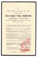 DP Alice Jeanne F. Hochsteyn ° 1863 † Leuven 1931 - Images Religieuses