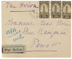 Lettre Maroc Vers France 1931. 3 Timbres. Cachet Du Maroc (Fès Ville Nouvelle) Et Paris 18. - Cartas