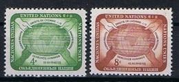 Verenigde Naties New York Y/T 64 / 65 (**) - New York -  VN Hauptquartier