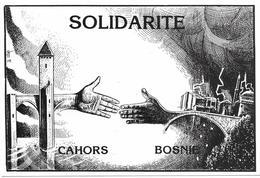 Illustrateur Bernard Veyri Caricature Solidarite Cahors Bosnie - Veyri, Bernard