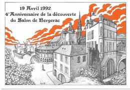 Illustrateur Bernard Veyri Caricature Salon De Bergerac 1992 - Veyri, Bernard