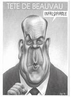 Illustrateur Bernard Veyri Caricature Politique Charles Pasqua Tete De Beauvau - Veyri, Bernard