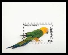 Tonga (Niuafo'ou) 2018 Mih. 679 (Bl.82) Fauna. National Geographic. Animals Of The World. Birds. Jandaya Parakeet MNH ** - Tonga (1970-...)