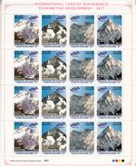 PAKISTAN- 2017 HIMALAYAN PEAKS- MNH Full Sheet Of 4 Sets- Broad Peak,Gasherbrum 1, Nangaparbat, K2 Peaks- Mountain Peaks - Geography