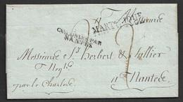 1821 LAC Precurseur - Martinique - Colonies Par Nantes . St. Pierre A Nantes. TB - Marcophilie (Lettres)