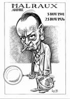 Illustrateur Bernard Veyri Caricature Andre Malraux - Veyri, Bernard