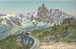 74 CHAMONIX MONT BLANC LOT 2 CARTES JJ 8826 TRAIN A CREMAILLERE DU MONTENVERS GLACIER DE LA MER DE GLACE - Chamonix-Mont-Blanc
