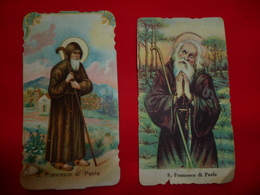 Santino San Francesco Di Paola Lotto X2 - Imágenes Religiosas