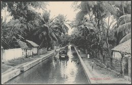 Negambo Canal, Ceylon, C.1905-10 - Plâté Postcard - Sri Lanka (Ceylon)