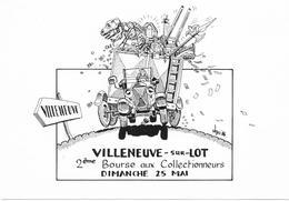 Illustrateur Bernard Veyri Caricature Villeneuve Sur Lot Bourse Aux Collectionneurs - Veyri, Bernard