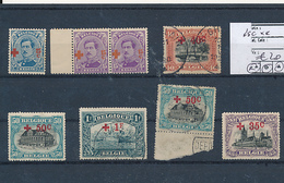 BELGIUM  RED CROSS USED OR MINT LH OR MNH SELECTION 25C BLUE MNH - 1918 Croix-Rouge