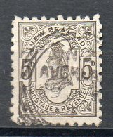 NZ 1891/95: 5d Olive-black With Advertisement (back Side), Used; Michel No.64   O - Used Stamps