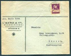 1932 Switzerland Kunz & Co, Glasblaserei Laboratoriums Cover - Switzerland