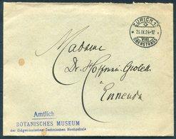 1924 Switzerland Amtlich Botanisches Museum Hochschule Zurich University Cover - Ennendra. Botanical - Switzerland