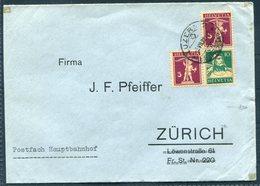 1928 Switzerland Luzern Turnfest Vignette (reverse) Cover - Zurich. Z11 - Switzerland
