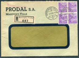 1936 Switzerland Prodal, Martigny-Ville Registered Cover - St Maurice, Valais - Switzerland