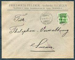 1908 Switzerland Friedrich Felder, Architekt, Luzern Cover. Thelephone Telephone - Switzerland