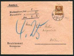 1935 Switzerland Bezirksamt Bremgarten Amtlich Nachnahme Cover - Wohlen. 25c 175 Z / 207 Z - Switzerland
