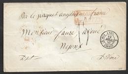 "1852 - Mexico  Enveloppe ""COLONIES & C. ART.13"" - Vera Cruz Vers Nyons- Anglo French Postal Convention - 1801-1848: Précurseurs XIX"