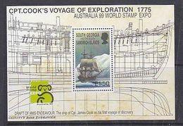 South Georgia 1999 Australia/Capt. Cook's Voyage Of Exploration M/s ** Mnh (41261A) - Georgias Del Sur (Islas)