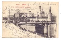 RU 101000 MOSKWA / MOSKAU, Kreml & Moskvaretsky-Brücke, Rücks. Strassenfeger, 1903 - Russland