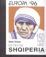 CEPT Berühmte Frauen / Famous Women Albanien Block 107 ** Postfrisch, MNH, Neuf - 1996