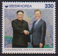SOUTH KOREA, 2018, MNH, LEADERS, INTER KOREA SUMMIT, 1v - Otros