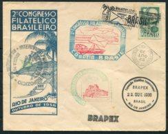 1938 Brazil BRAPEX Philatelic Exhibition Cover. Roland Hill, Penny Black - Brazil