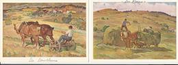 La Récolte Des Foins Et La Faucheuse Par François Jaques, Attelages (2x 805) 10x15 - Cultures
